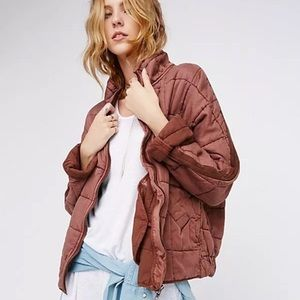 NWT Free Terracotta People Dolman Quilted Jacket
